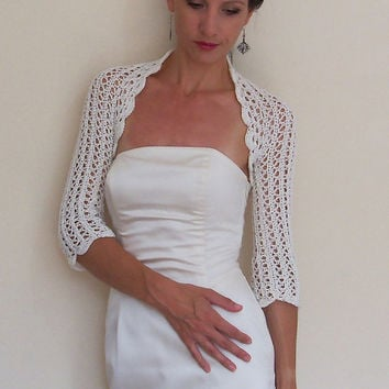 Bridal BOLERO Jacket Wedding SHRUG BRIDESMAIDS Bolero lace crochet