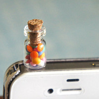 jar of candies phone plug