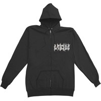Deicide Men's  Scars Of The Crucifix Zippered Hooded Sweatshirt Black Rockabilia