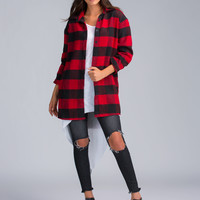 Big Buffalo Plaid Flannel Button-Up