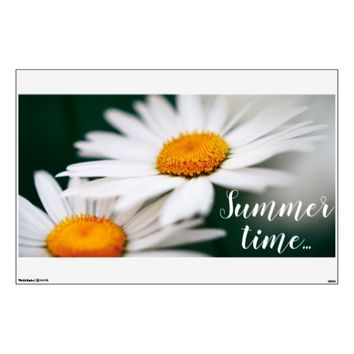 "Two pretty daisies. Add text. 30""x45"" Wall Decal"