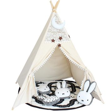 Foldable Lace Teepee Tent
