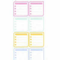 On SALE!! Ready to ship. Checklist Boxes. Planner Stickers for the Happy Planner/ECLP/.