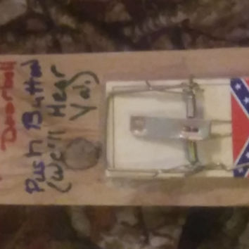 Redneck Doorbell Funny Gag Gift Decoration Rebel Flag Mouse Trap Homemade
