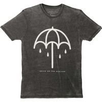 Bring Me The Horizon Men's  Umbrella Vintage T-shirt Grey