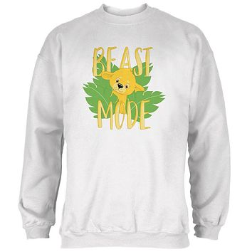 Beast Mode Cute Lion Cub Mens Sweatshirt