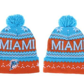 ESBON Miami Dolphins Beanies New Era NFL Football Caps