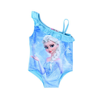 Girls Kids Clothing Youth Frozen Elsa Anna One Piece Swimsuit Swimming outfit