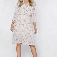 Flower Me With Compliments Midi Dress