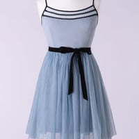 Belted Tulle Ballerina Dress