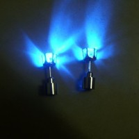 Flashing Blue Light up Led Earrings (Blue Crown)