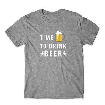 Time to Drink Beer T-Shirt 100% Cotton Premium Tee