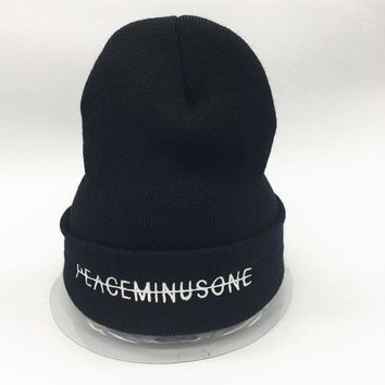 KPOP BIGBANG GD gdragon PEACEMINUSONE knitted hat embroidery style fashion hat
