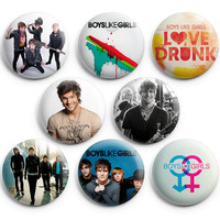 Boys Like Girls Pinback Buttons Badges 1.25 inch Set of 8
