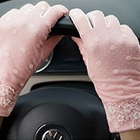 Women's Driving Gloves Sun Uv Protection Outdoors 100% Cotton for Spring Summer