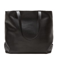 Leather Tote Black- Leather Tote Black | Cuyana Shop