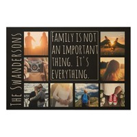 Personalized Eight Frame Quote Wood Print