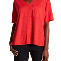 Harlowe & Graham | Boxy Short Sleeve V-Neck Tee | Nordstrom Rack