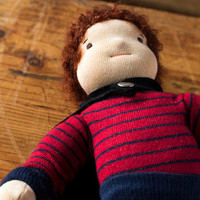 "Waldorf doll - superhero doll - textile doll for boys - 35 cm /13"" boy doll"