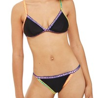 Topshop Crochet Ribbon Trim Bikini Bottoms | Nordstrom