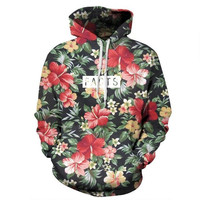 True Facts Vintage Floral Print Hoody