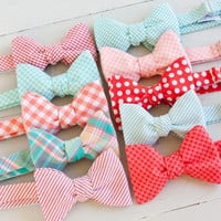 The Beau- men's coral/peach/mint collection freestyle bow ties- choose your favorite print