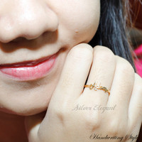 Personalized Initial Name Ring -  Handcrafted Name Ring - Mom Ring - Unique Gift  -  18K Gold Plated