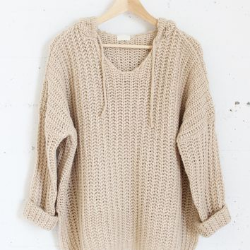 Aria Knit Sweater - Oat