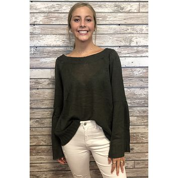 Homegrown Top- Olive