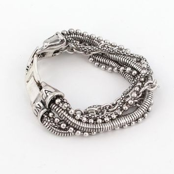 Gift to Best friend  multi layer pulseira Alloy bracelets & bangles bohemian vintage jewelry fashion friendship bracelets
