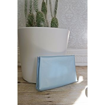 Vintage Powder Blue  Simple Clutch Bag