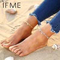 5 Style New Bohemian Silver Color Women Anklet Girl Popular Gold Color Multi-layer Created Stone Turkish Bracelet Jewelry