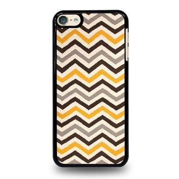 YELLOW BROWN CHEVRON Pattern iPod Touch 4 5 6 Case Cover