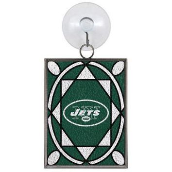 NEW YORK JETS STAINED GLASS SUN CATCHER/ORNAMENT NEW & OFFICIALLY LICENSED