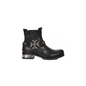 Newrock - M-GY34-S1 Ankle Boot Biker Boots