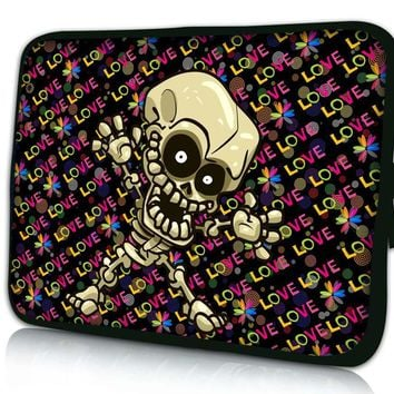 "Skull Kid 10"" Laptop Bag Sleeve Case Pouch For 10.1"" Samsung Galaxy Tab/Apple iPad 4 3 2 1"
