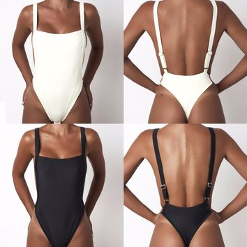 Sexy black white backless skinny bodysuits white jumpsuit for women rompers womens jumpsuit shorts