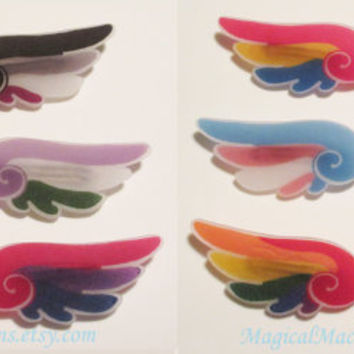 LGBTQA Orientation and Identity Pride Wings Hair Clips