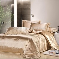 2017 new arrive imetated silk Bedding set home textile bed linen set clothing of bed bedcloth soft silky bedding Queen&King size
