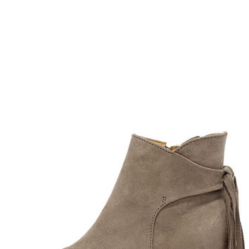 El Camino Taupe Suede Pointed Toe Booties