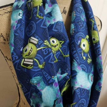 Monsters - inc - monster - university - sully - mike - wasowski - disney - infinity  - scarf