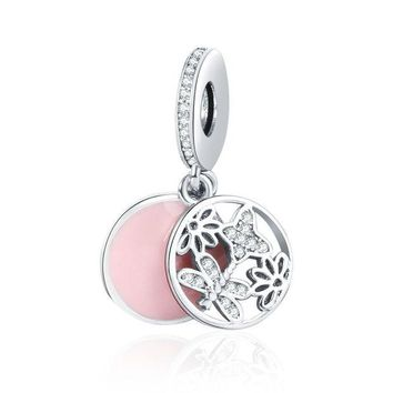 LMF8UH New Collection 925 Sterling Silver Springtime Pendant Charm Pandora Bracelet DIY Jewelry Making Accessories