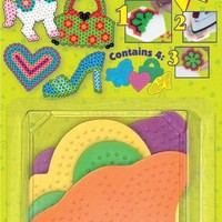 Perler Beads Small Girlie Pegboards- 4 Count