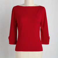 Up to Parisienne Sweater in Red | Mod Retro Vintage Sweaters | ModCloth.com