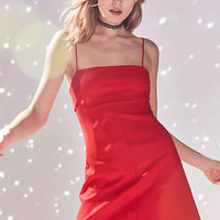 Silence + Noise Audrey Red A-Line Mini Slip Dress - Urban Outfitters