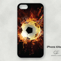 Choice of iphone 4/4s or 5 case -  Soccer Ball  IP008