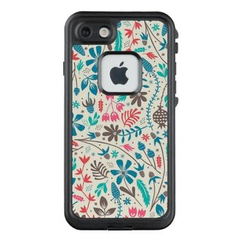 Retro Floral Pattern LifeProof® FRĒ® iPhone 7 Case