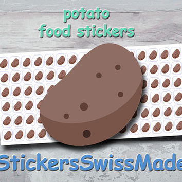 PLANNER STICKER || potato || food || small colored icon | for your planner or bullet journal