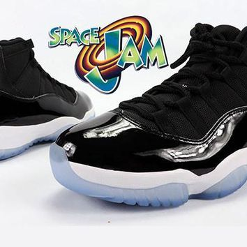 AIR JORDAN 11 (BLACK/ BLUE - SPACE JAM 2016 #45)