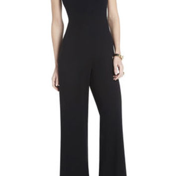 BCBG Helena Sleeveless Jumpsuit - Black